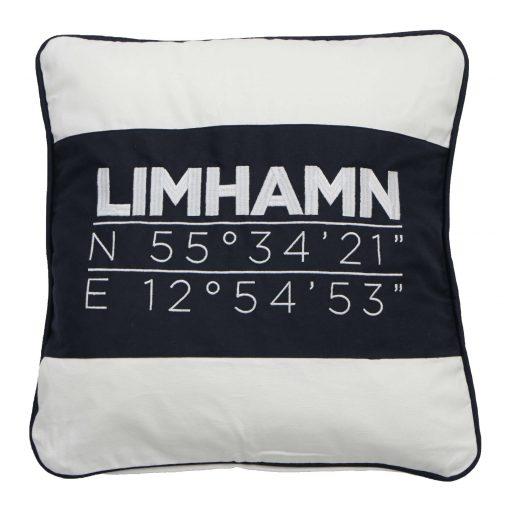 Kokkolit Limhamns kudde offwhite/navy