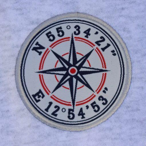 Kokkolit Limhamn grå hood emblem