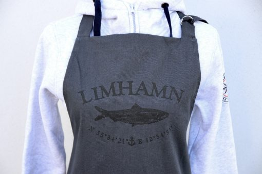 Kokkolit, Limhamn, grå/svart förkläde