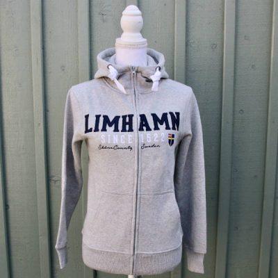 Limhamn 1522 grå Limhamnshoodie från Kokkolit